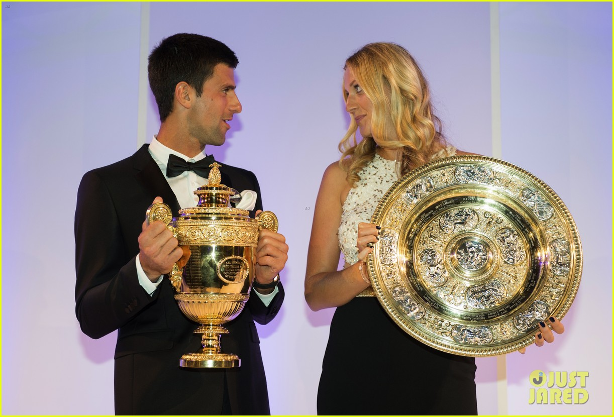 novak djokovic celebrates win at wimbledon championships winners ball 2014 013150859
