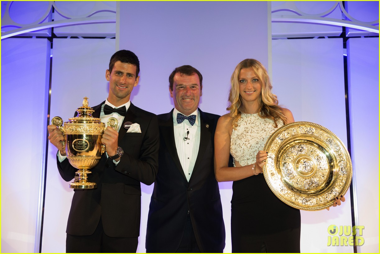 novak djokovic celebrates win at wimbledon championships winners ball 2014 043150862