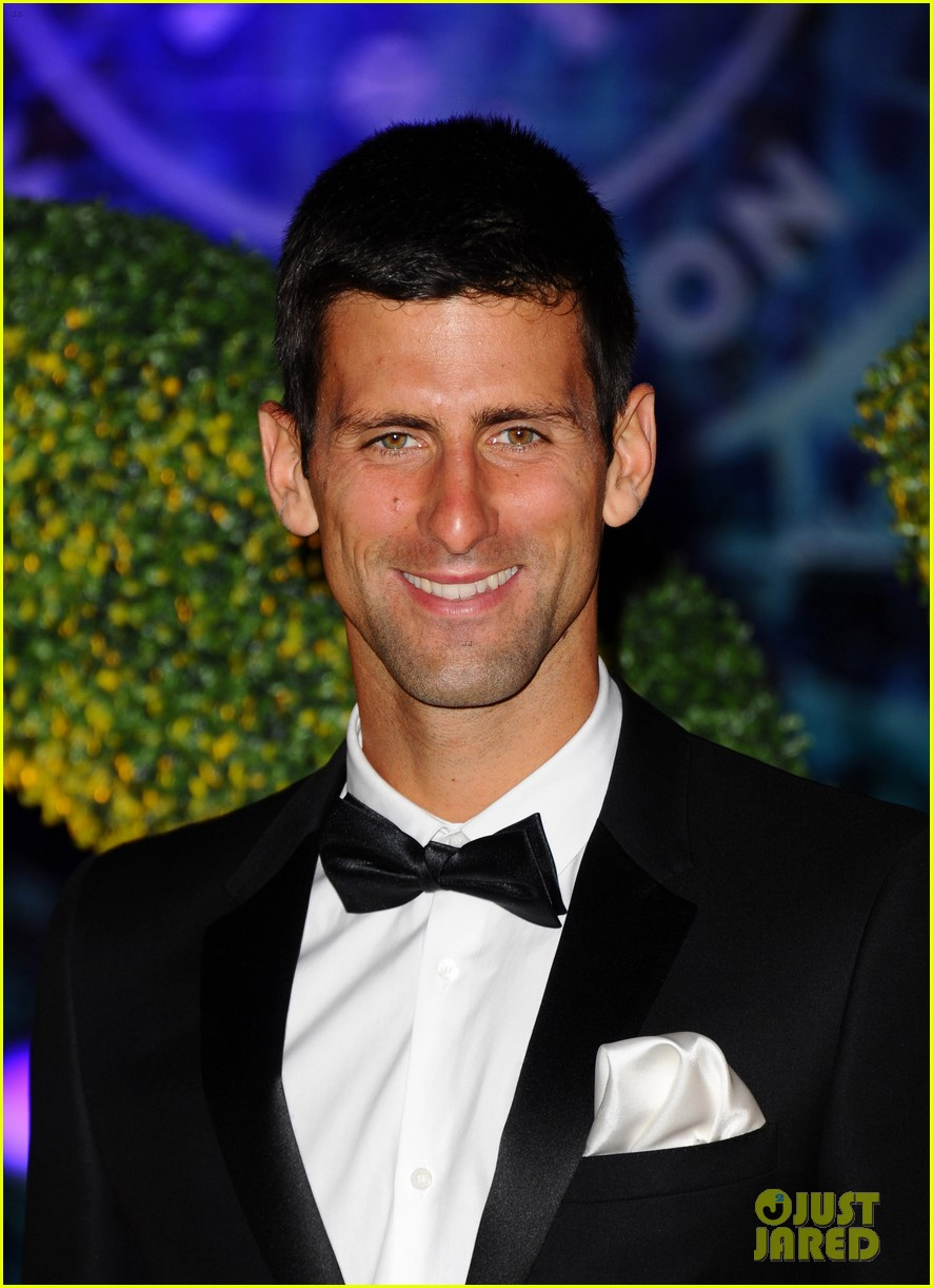 novak djokovic celebrates win at wimbledon championships winners ball 2014 07