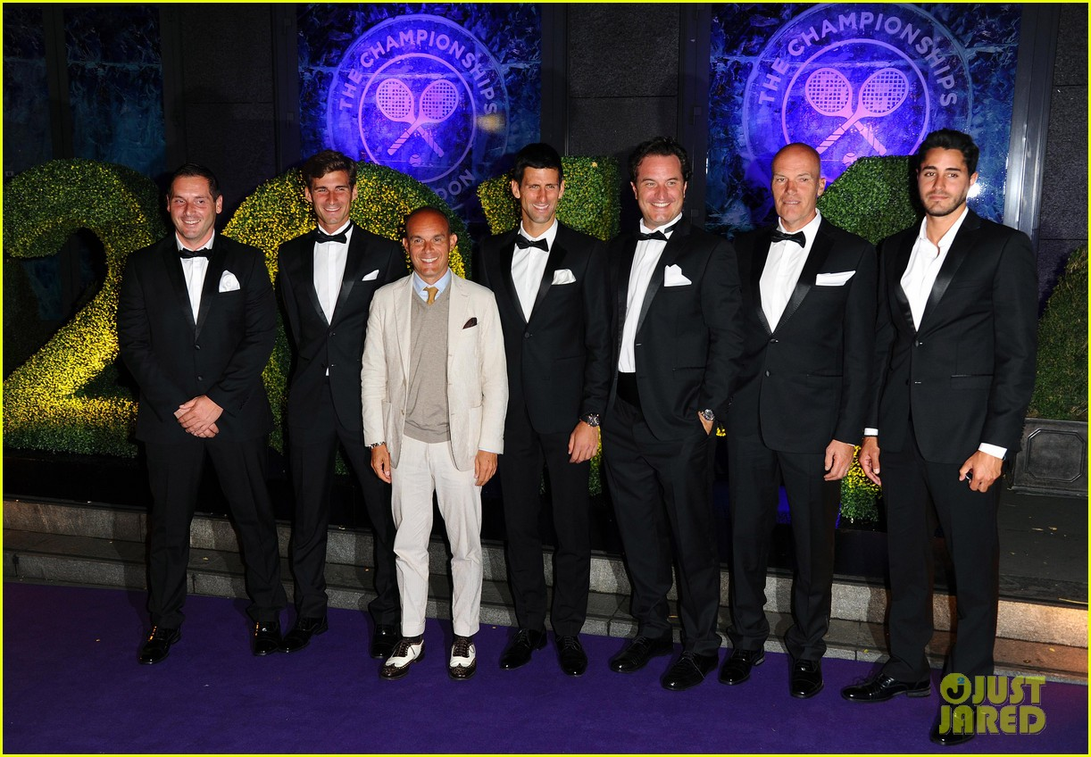 novak djokovic celebrates win at wimbledon championships winners ball 2014 113150869