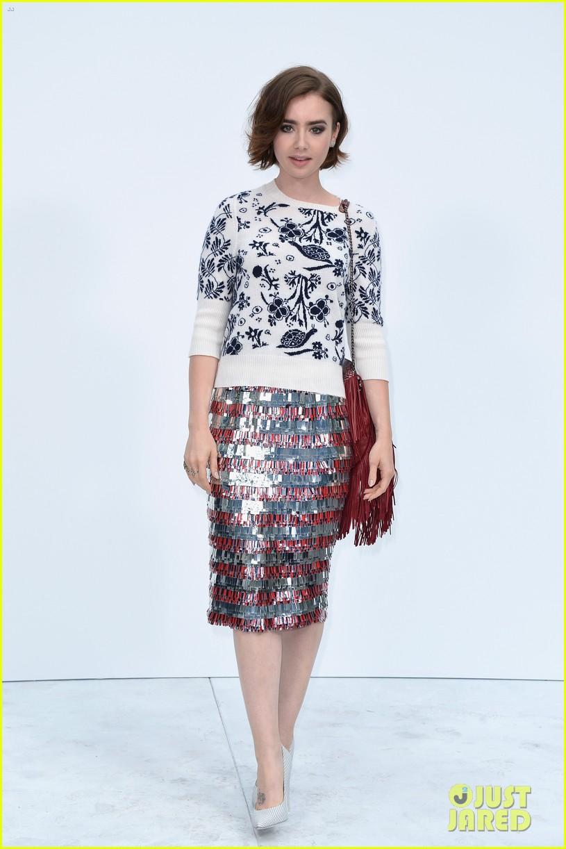 nina dobrev lily collins join jared leto at chanel fashion show 113151592