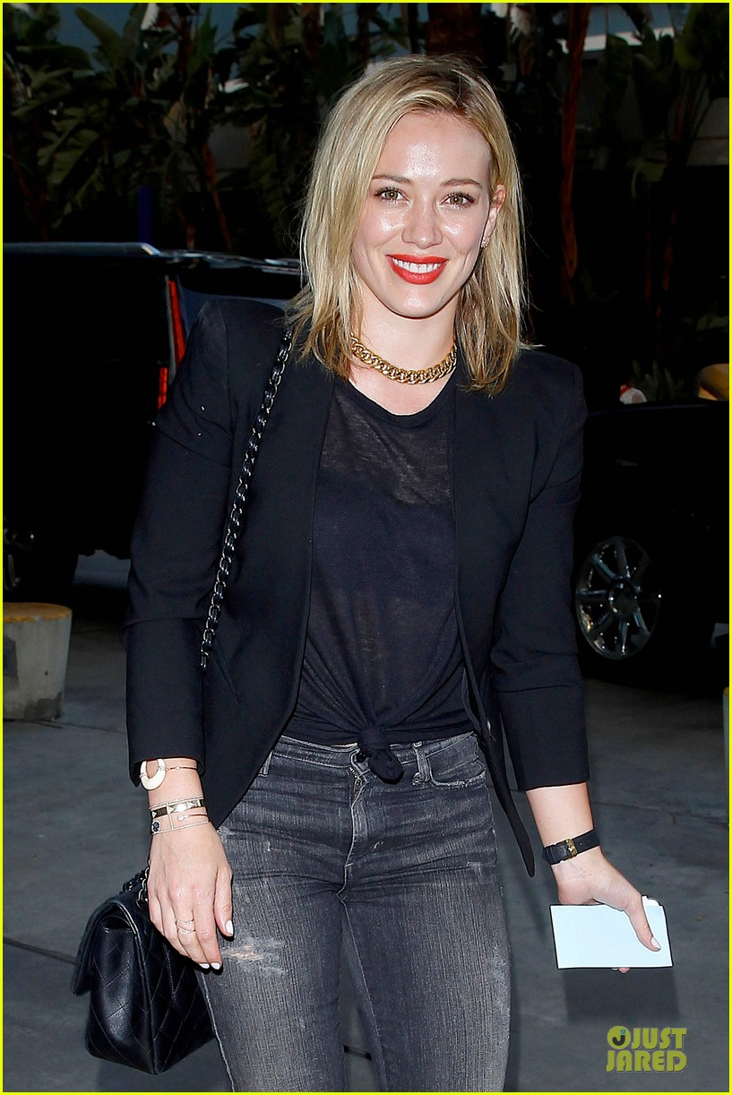 hilary duff sheer black at cher staples center concert 02
