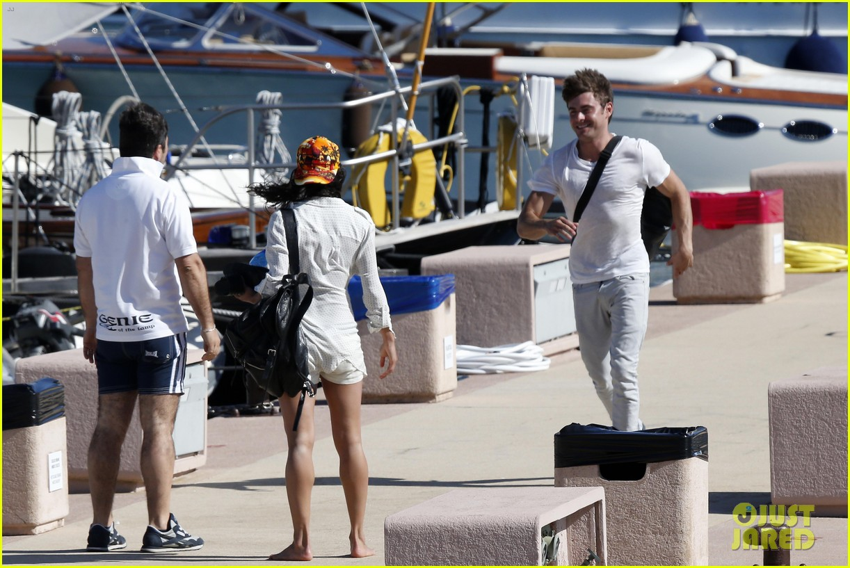 zac efron michelle rodriguez set sail together in porto cervo 053148184