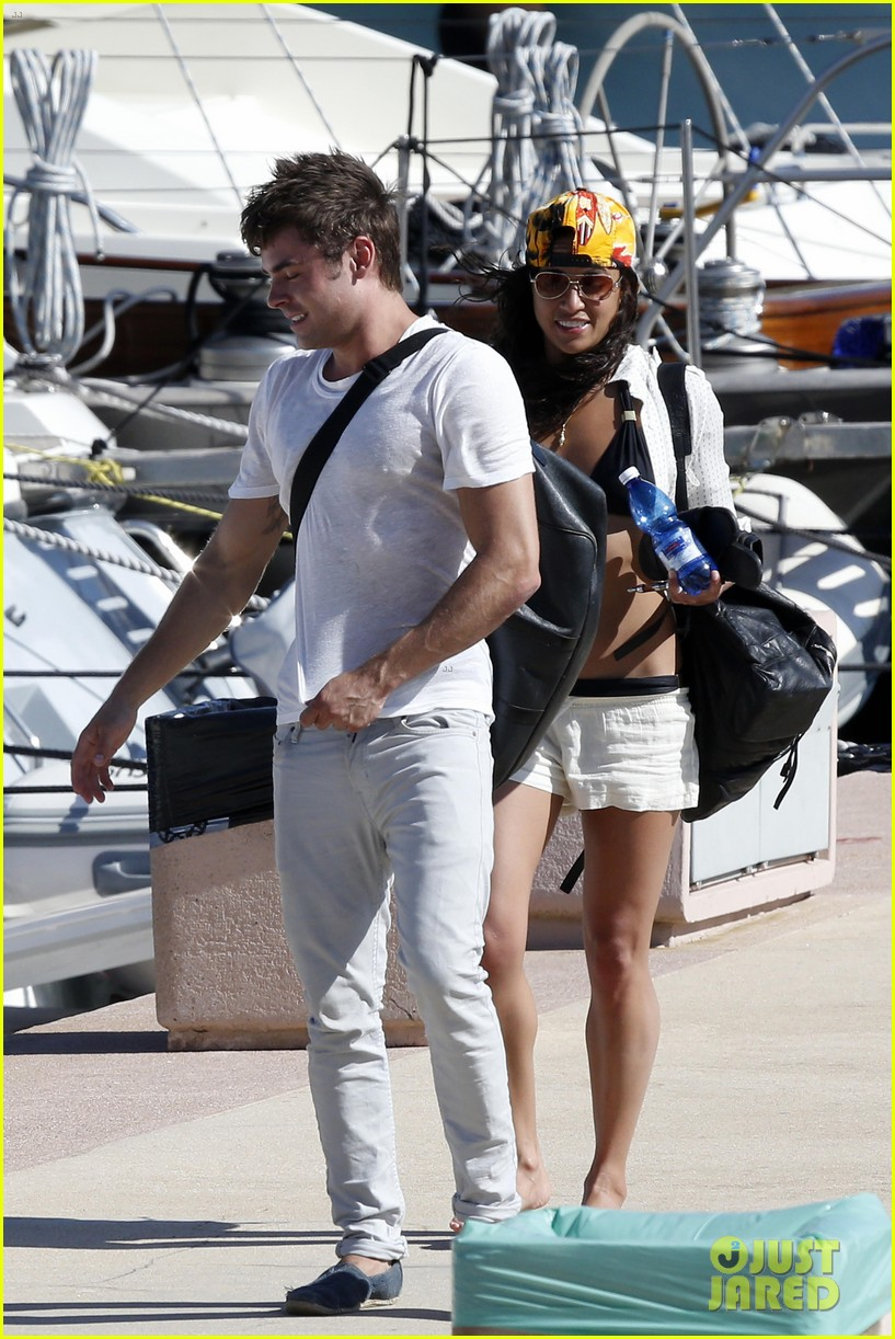 zac efron michelle rodriguez set sail together in porto cervo 083148187