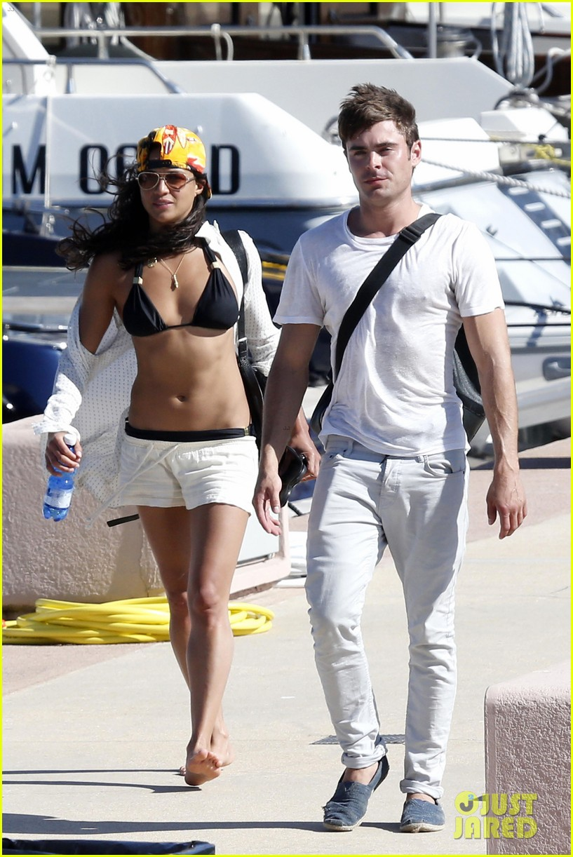 zac efron michelle rodriguez set sail together in porto cervo 093148188