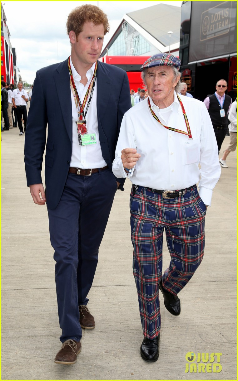 prince harry eventful sunday at the one grand prix 08