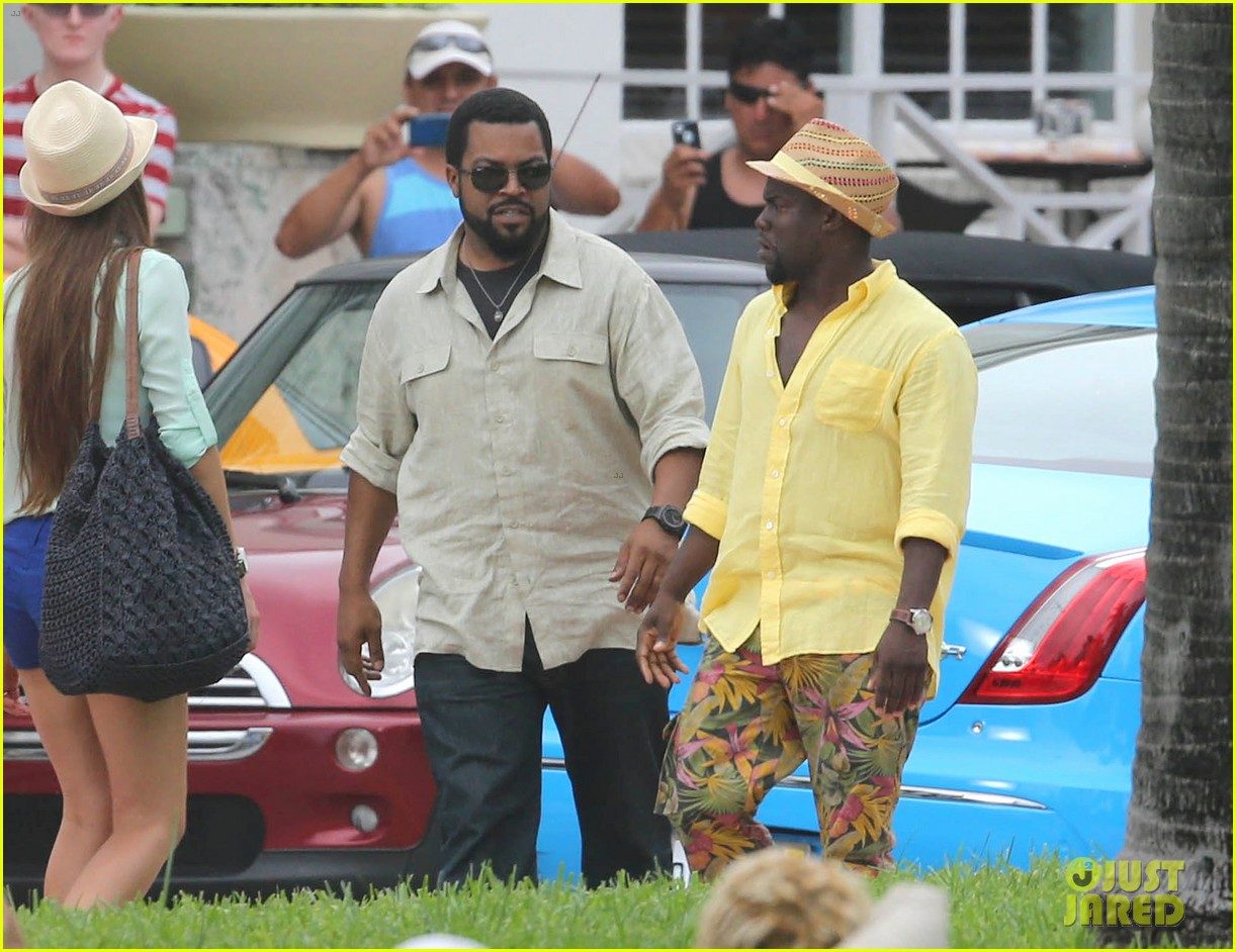 kevin hart begins filming ride along 2 with ice cube in miami 013152168