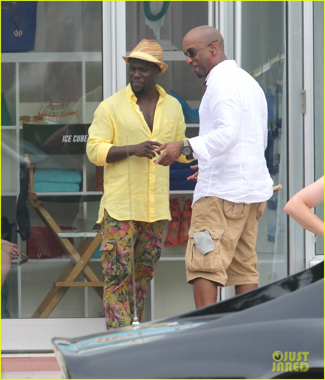 kevin hart begins filming ride along 2 with ice cube in miami 023152169