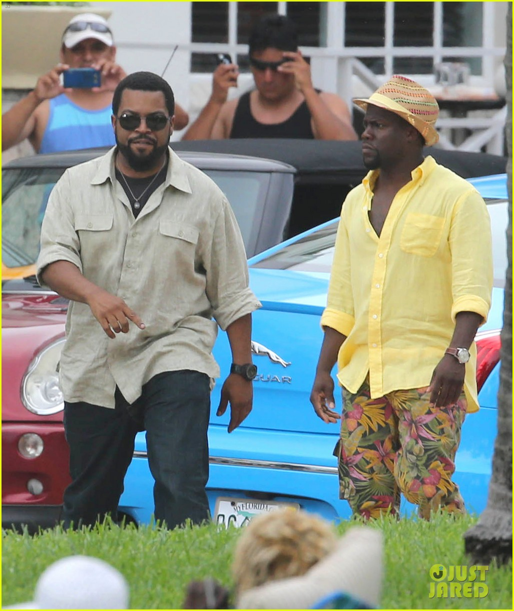kevin hart begins filming ride along 2 with ice cube in miami 18