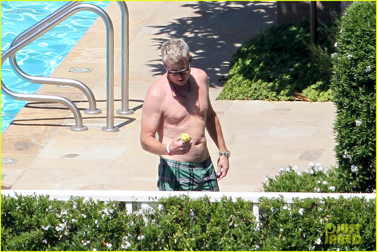 joe simpson hits the pool with a much younger man 163150045