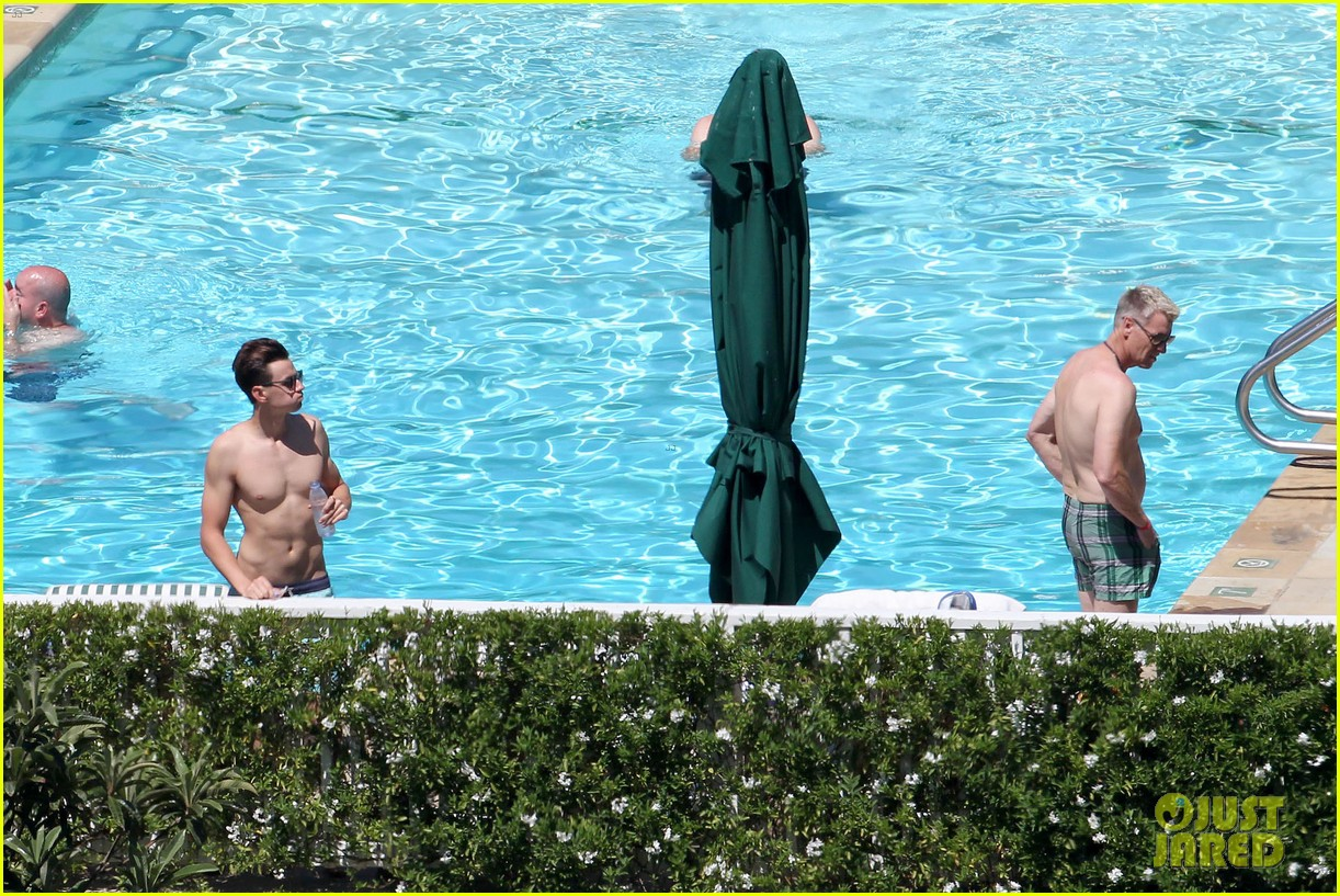 joe simpson hits the pool with a much younger man 203150049
