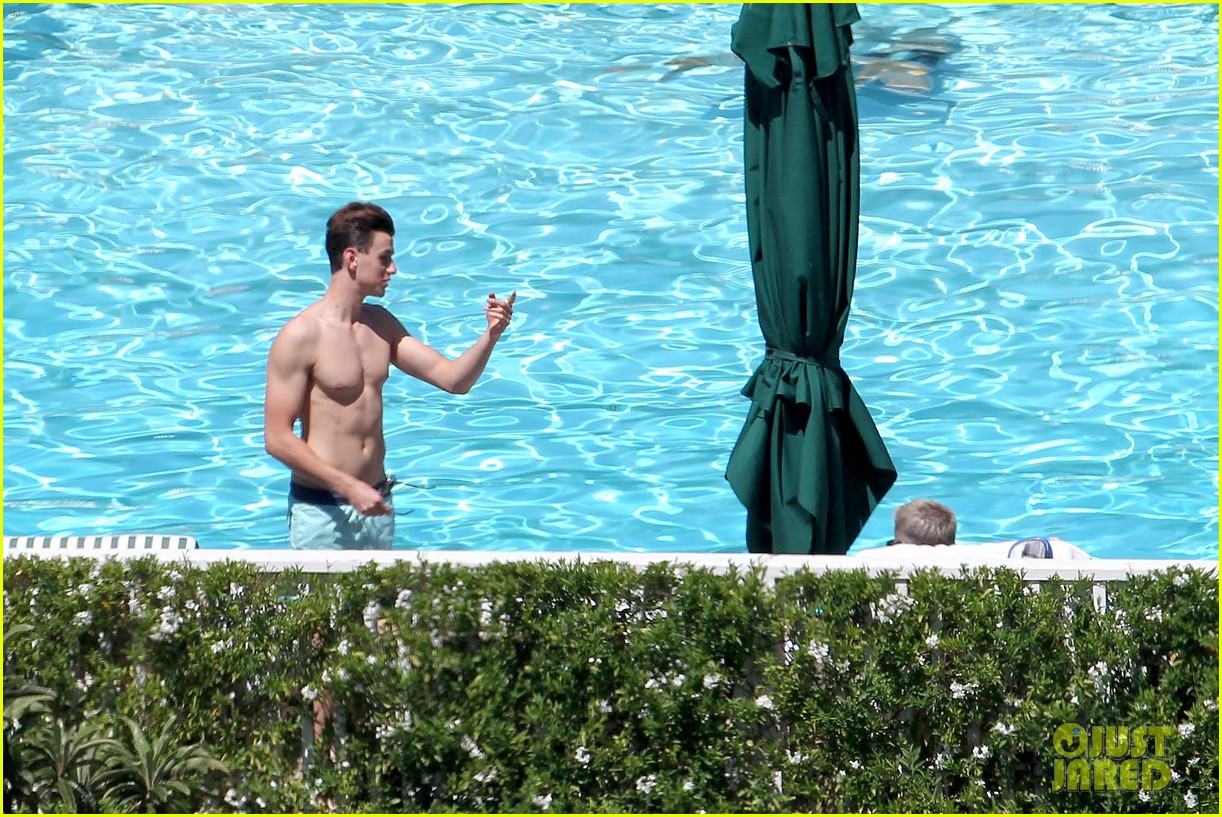 joe simpson hits the pool with a much younger man 263150055