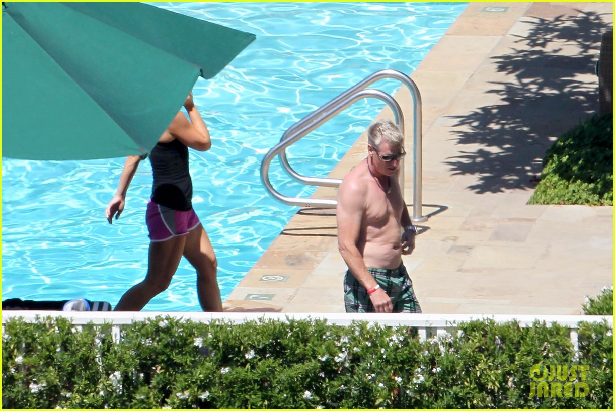joe simpson hits the pool with a much younger man 28