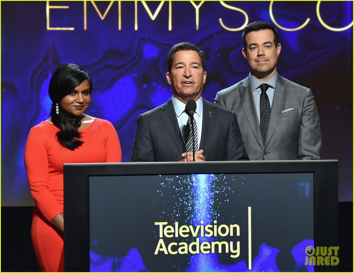 mindy kaling carson daly announce the emmy nominations 2014 053152981
