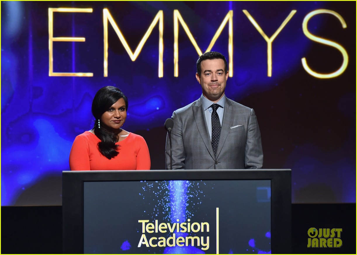 mindy kaling carson daly announce the emmy nominations 2014 063152982