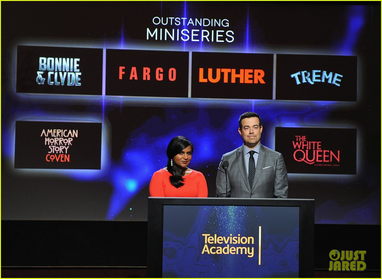 mindy kaling carson daly announce the emmy nominations 2014 11