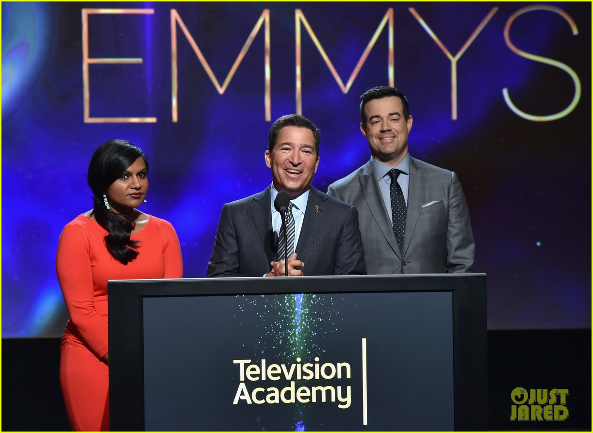 mindy kaling carson daly announce the emmy nominations 2014 12