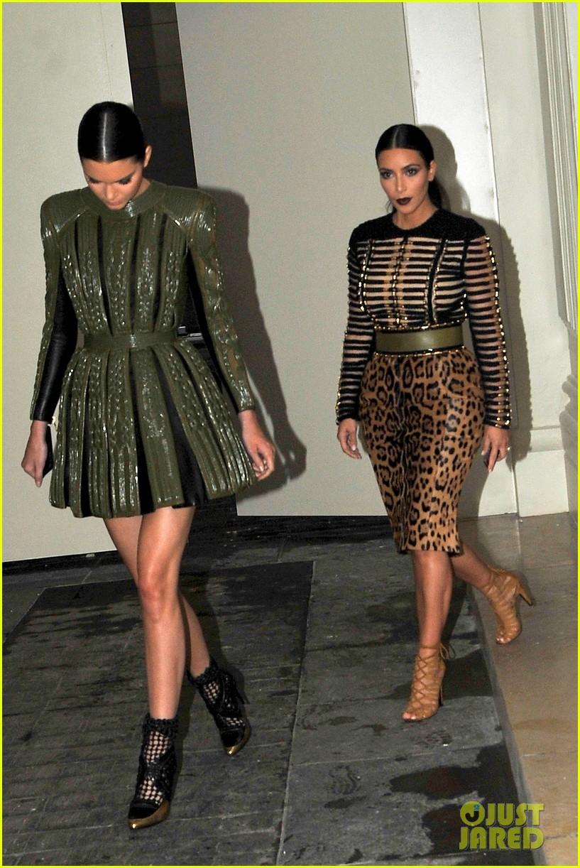 kim kardashian kendall jenner balmain paris fashion week 17