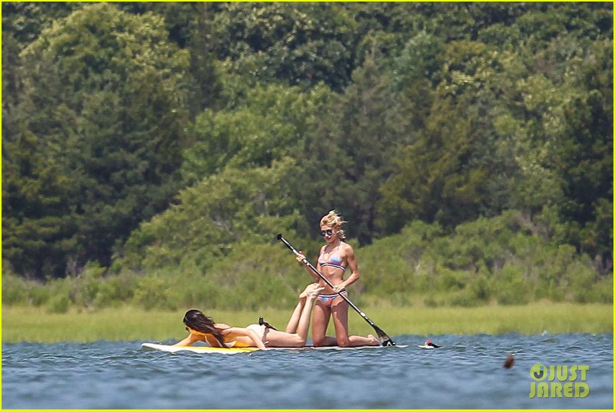 kendall jenner hailey baldwin paddleboarding bikini 133147950