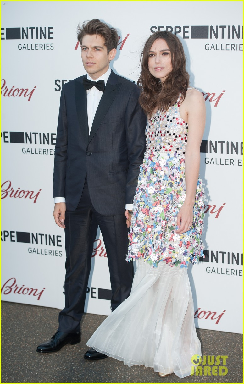 keira knightley james righton share adorable moment at serpentine gallery party 033147797