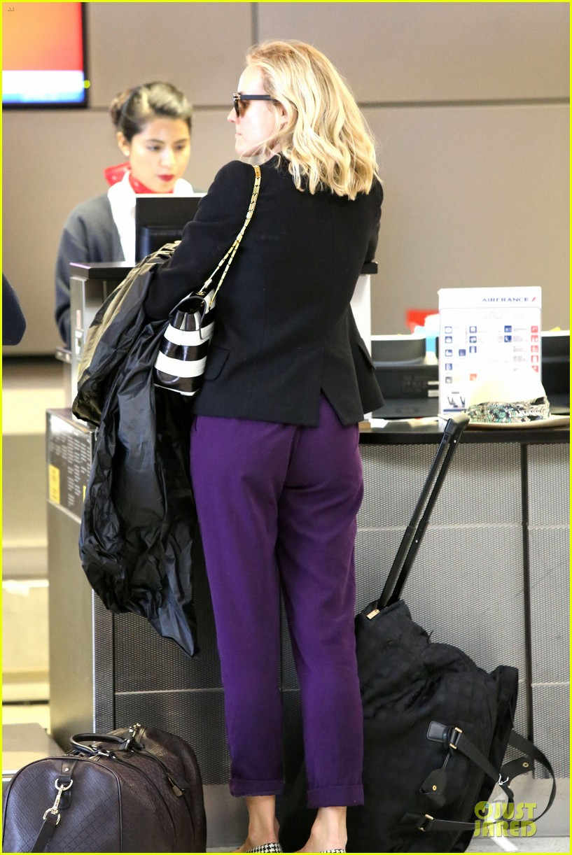diane kruger wears purple pants at lax airport 133148016