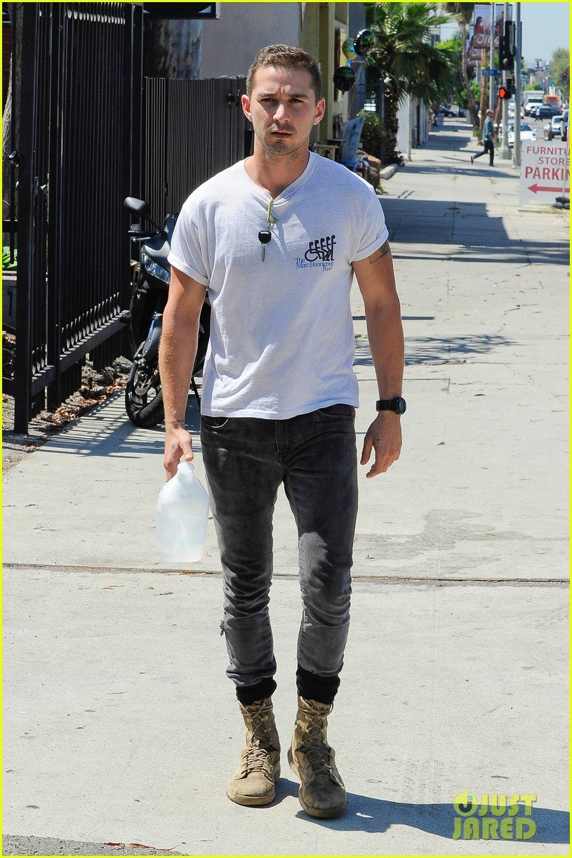 shia labeouf clean shaven looking healthy 143151089