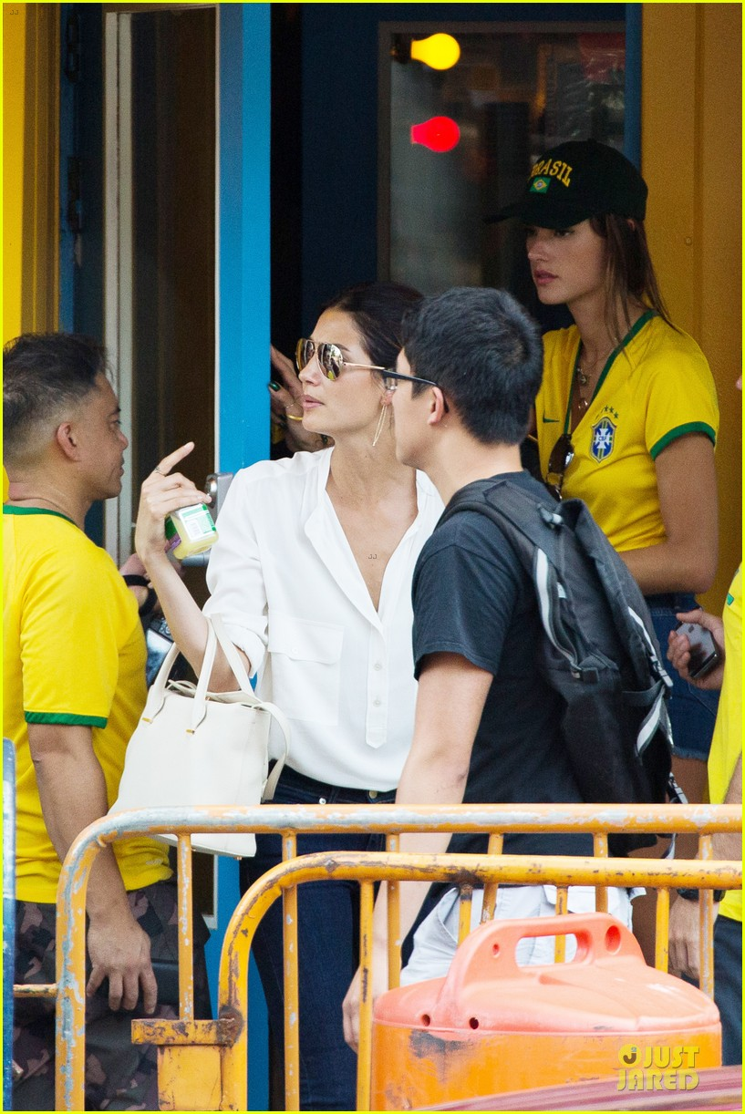 adriana lima alessandra ambrosio support brazil in world cup defeat 183151907