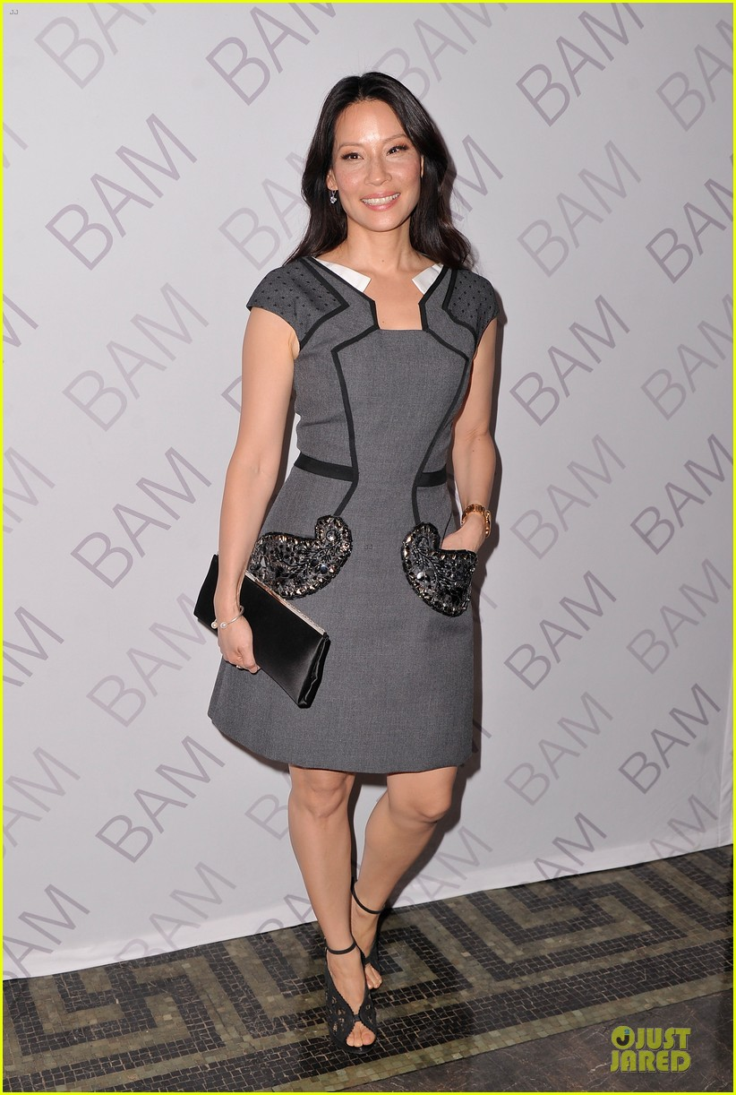 lucy liu shows support for bam education 013147457