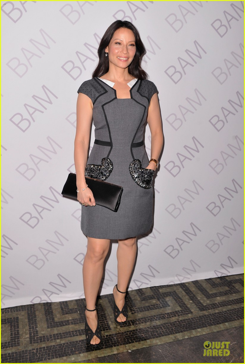 lucy liu shows support for bam education 033147459