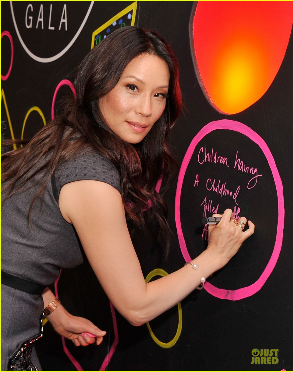 lucy liu shows support for bam education 043147460