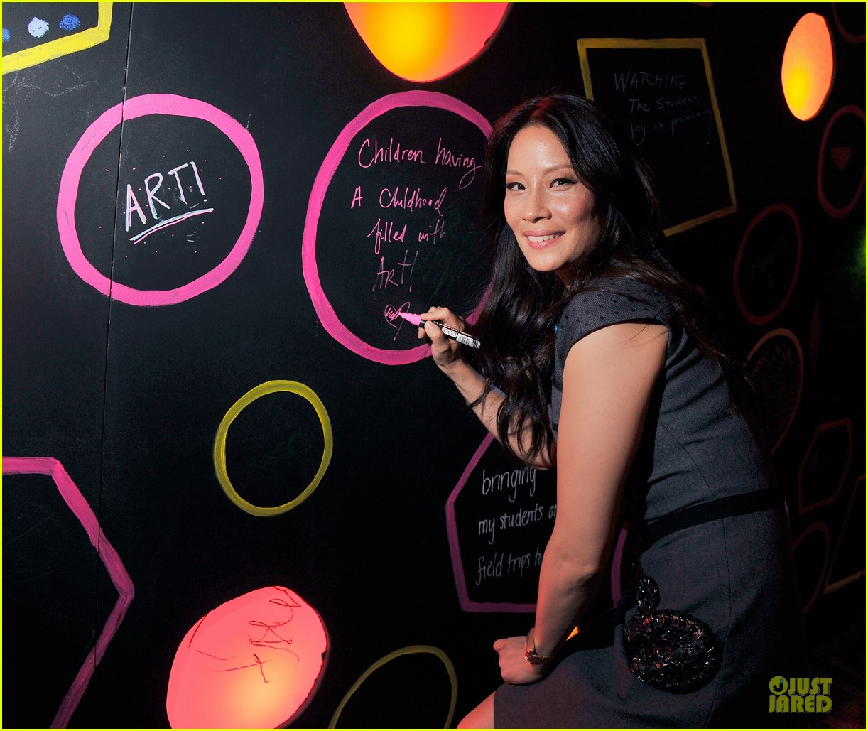 lucy liu shows support for bam education 053147461