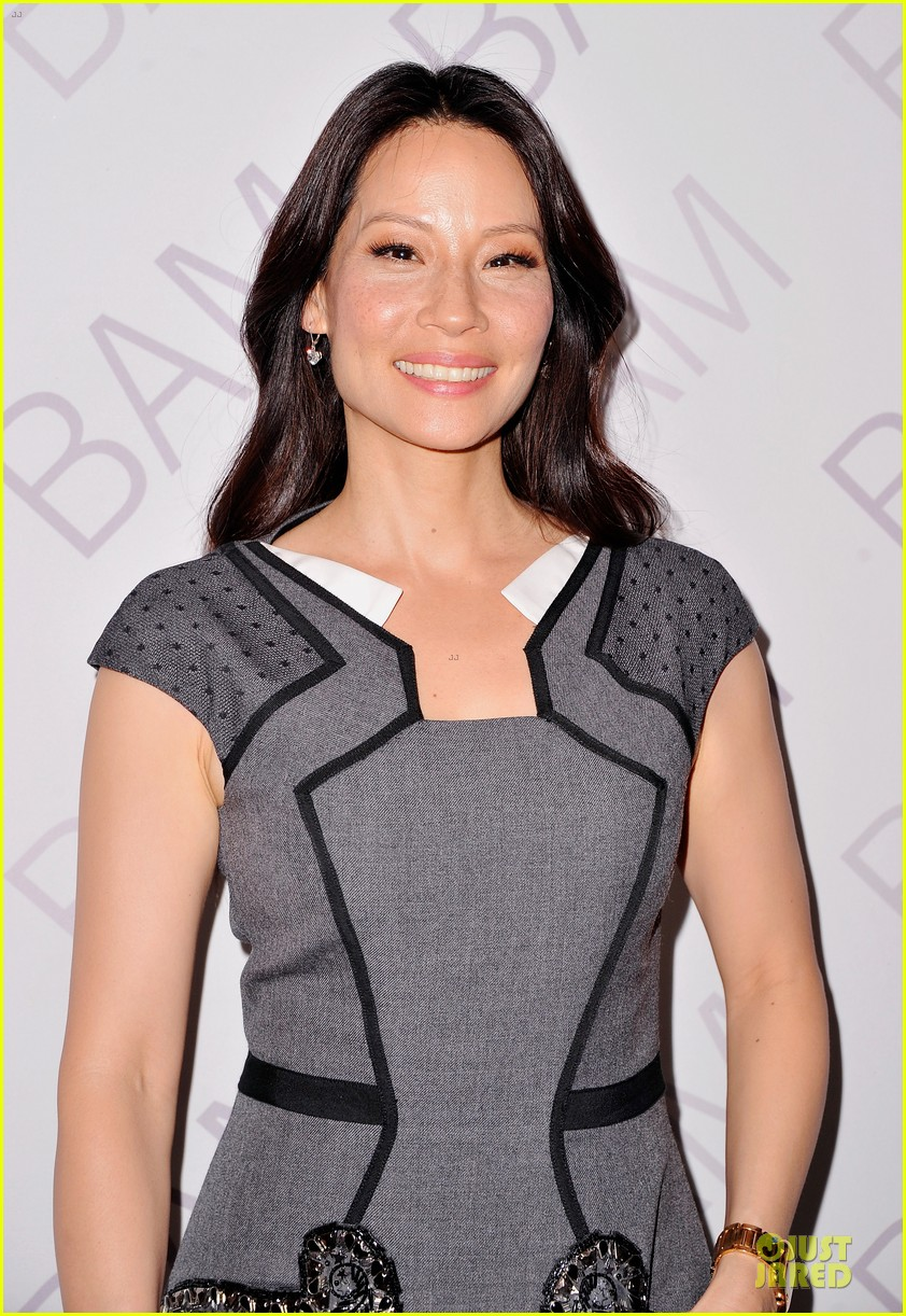 lucy liu shows support for bam education 073147463