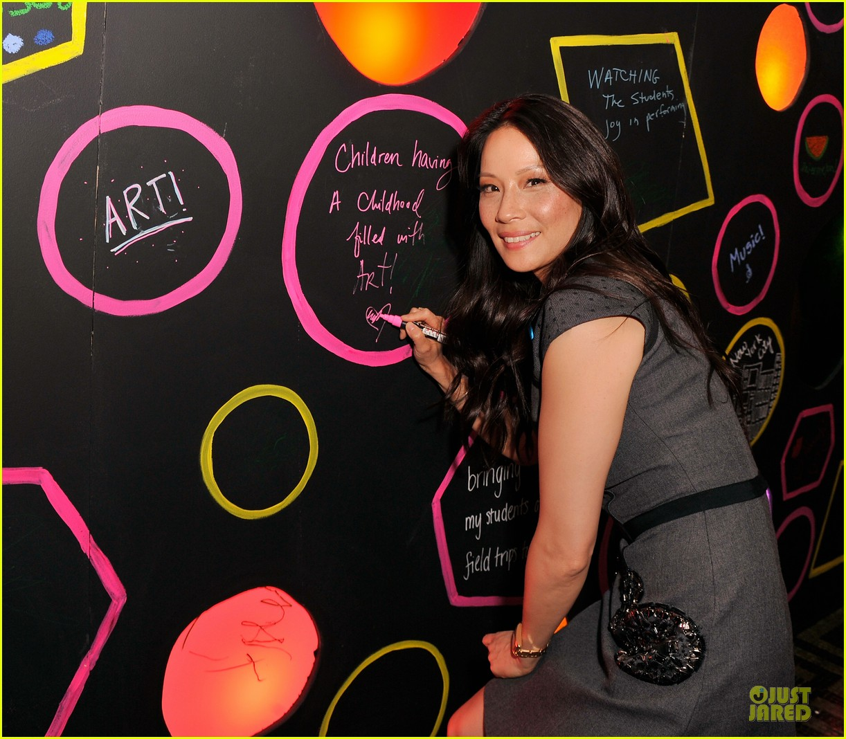 lucy liu shows support for bam education 093147465