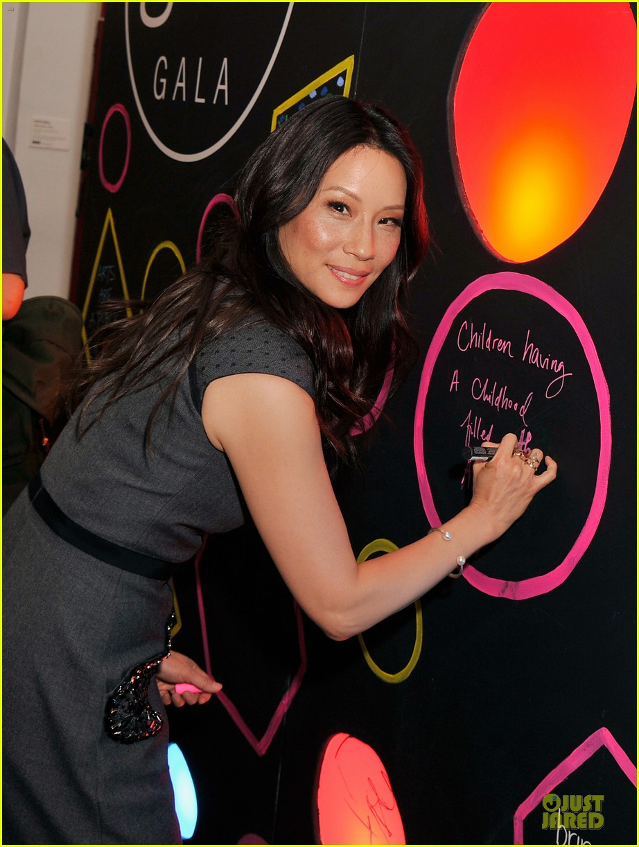 lucy liu shows support for bam education 103147466