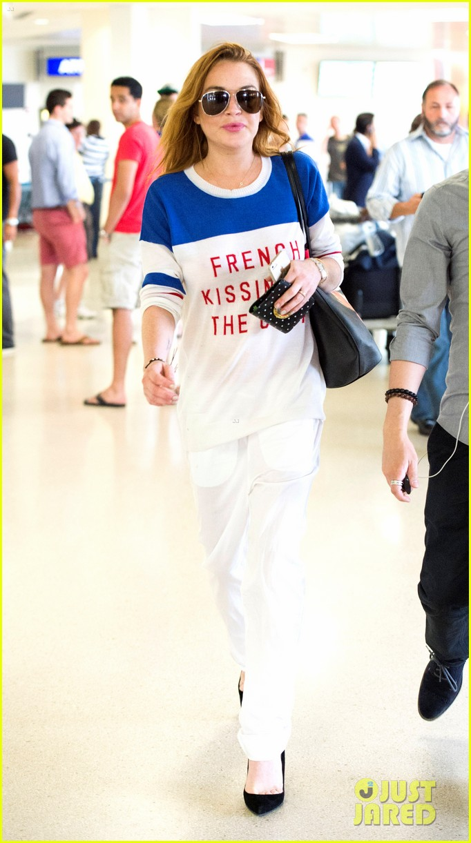 lindsay lohan is back in the states after a long stay in london 013147801
