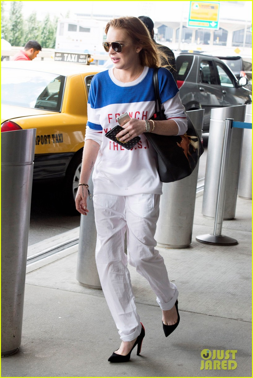 lindsay lohan is back in the states after a long stay in london 203147820