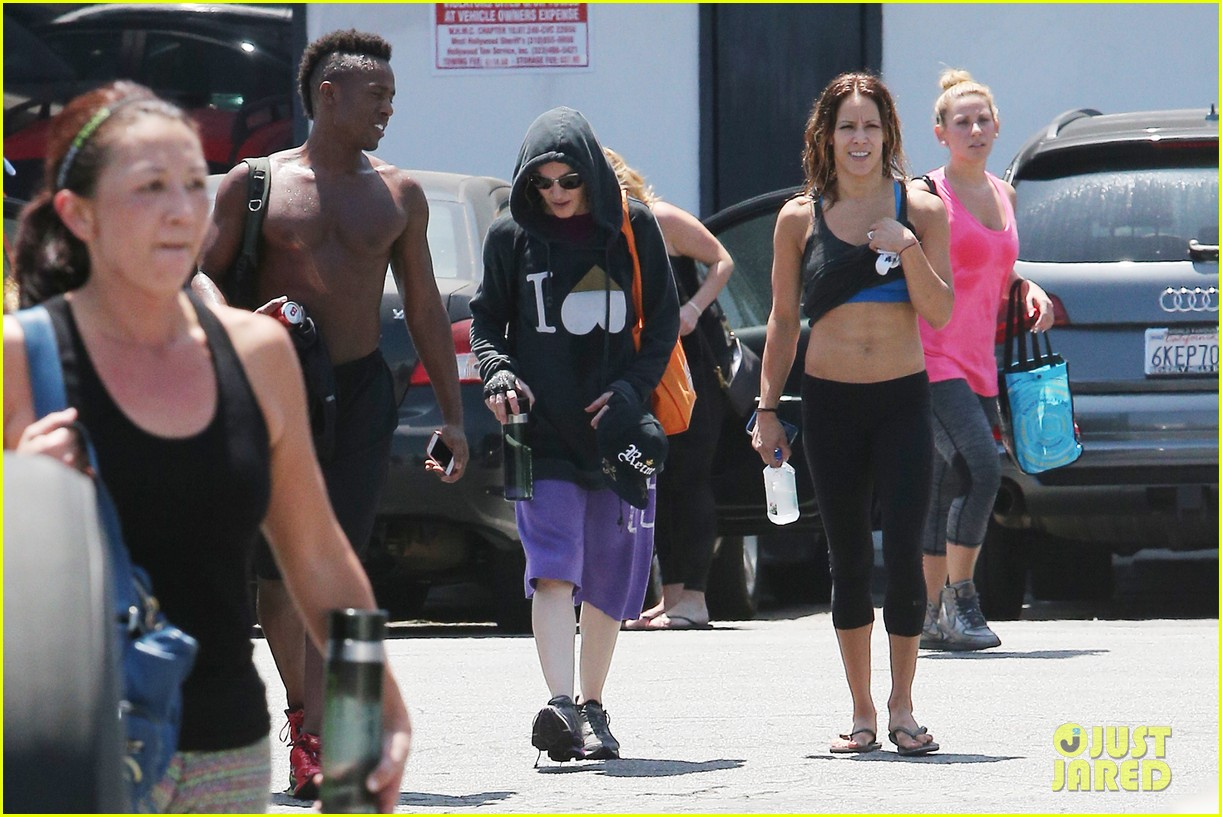 madonna goes from one workout right to another 133148898