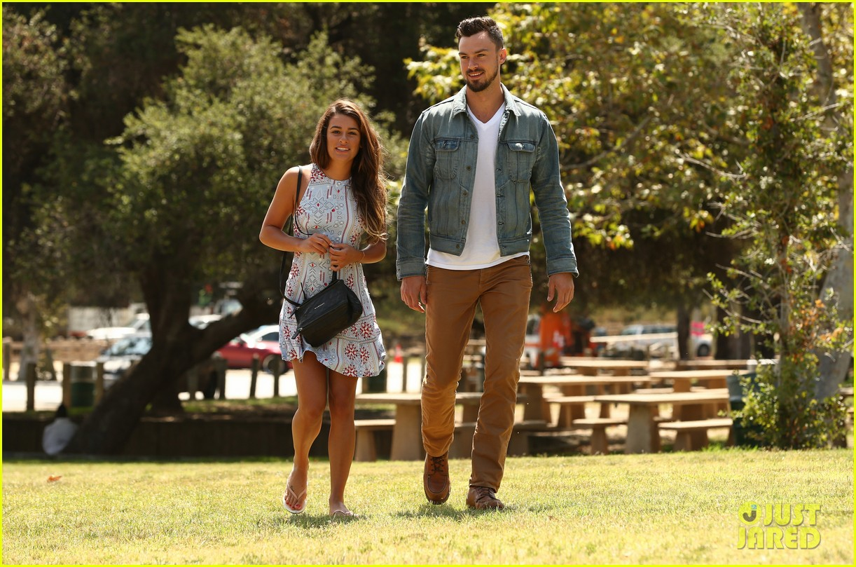 lea michele boyfriend matthew paetz step out together for first time 023148771