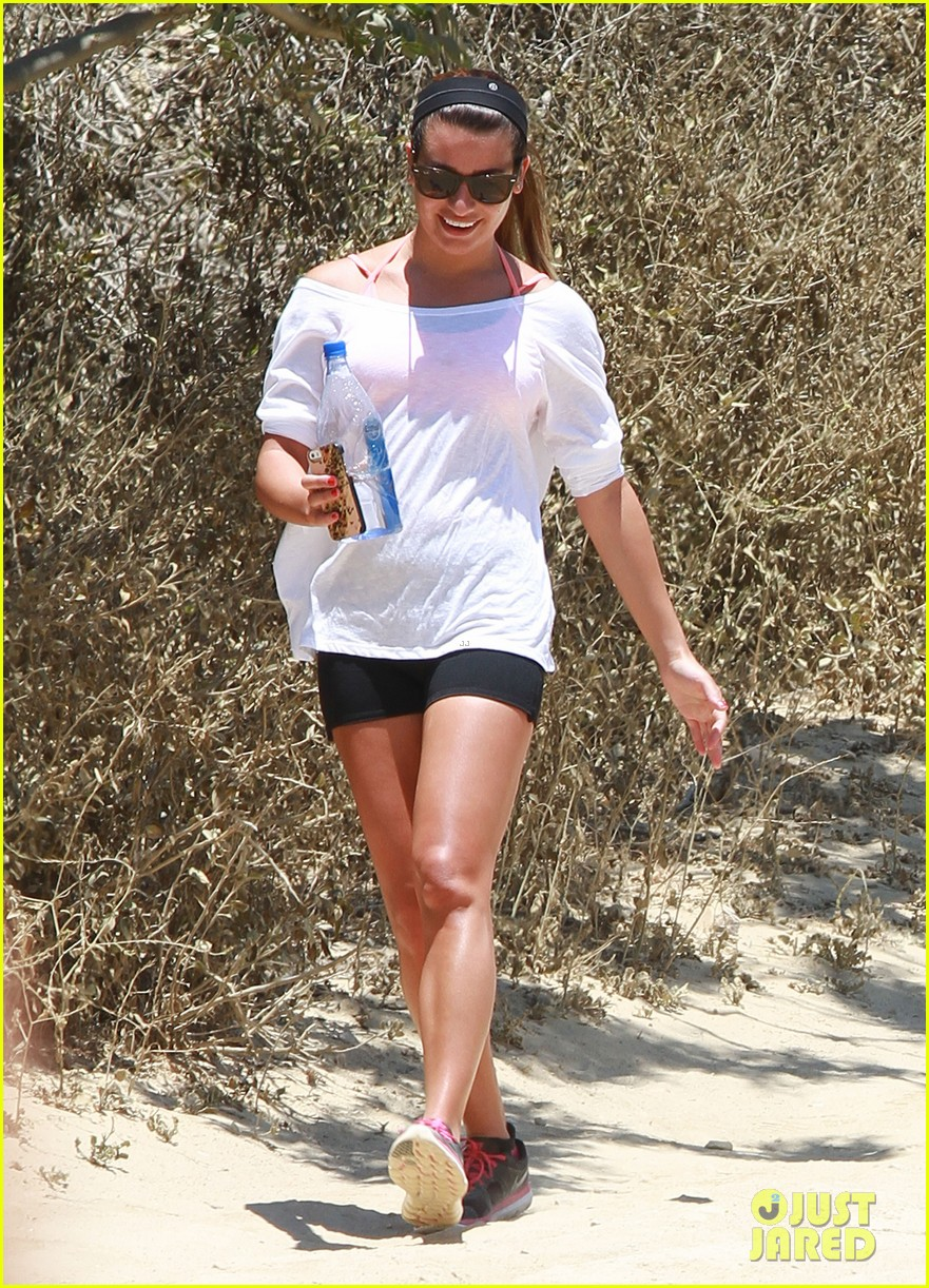 lea michele hiking boyfriend matthew paetz uses her car 07