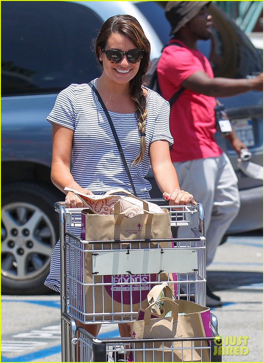 lea michele smiles wide after going public with new boyfriend 043149073