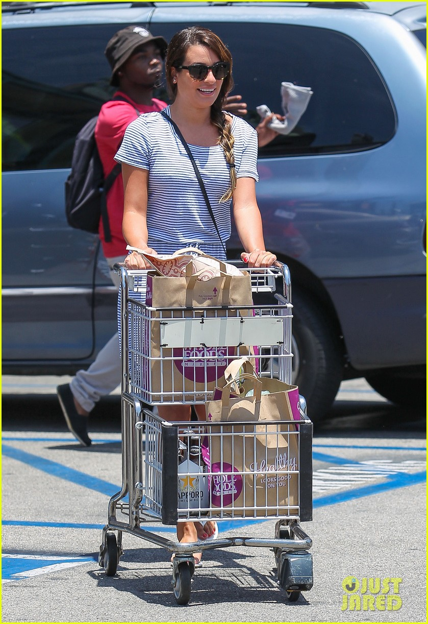lea michele smiles wide after going public with new boyfriend 063149075