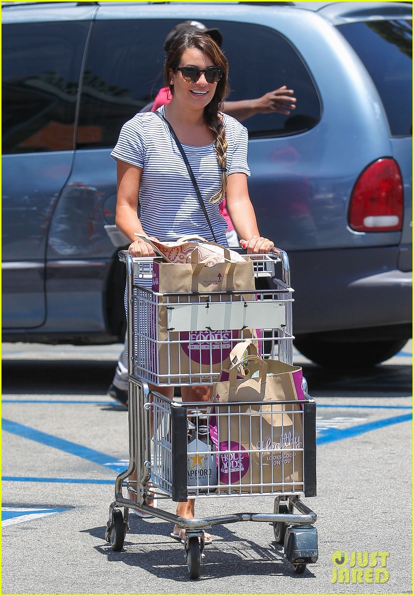 lea michele smiles wide after going public with new boyfriend 073149076