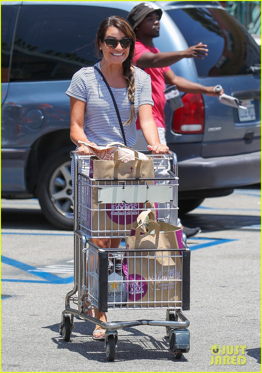 lea michele smiles wide after going public with new boyfriend 083149077
