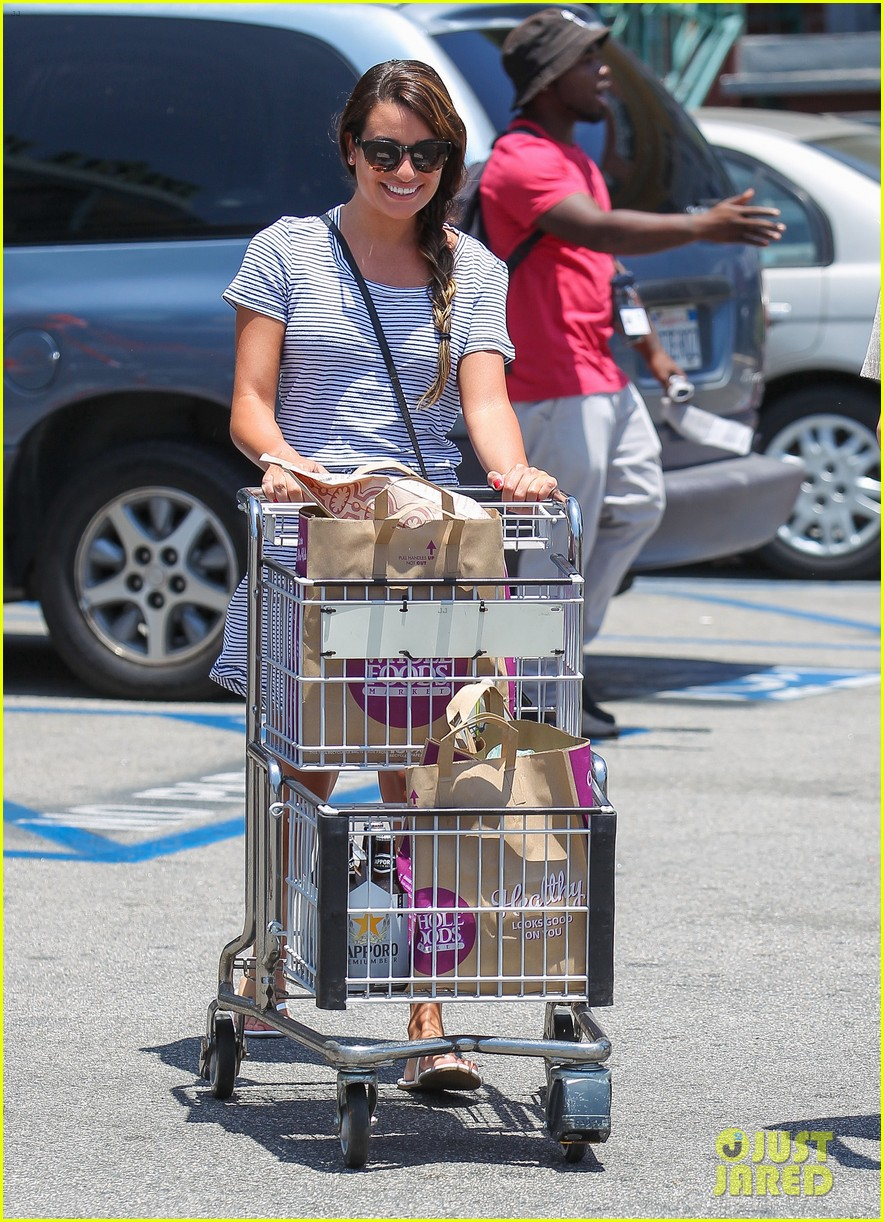 lea michele smiles wide after going public with new boyfriend 093149078