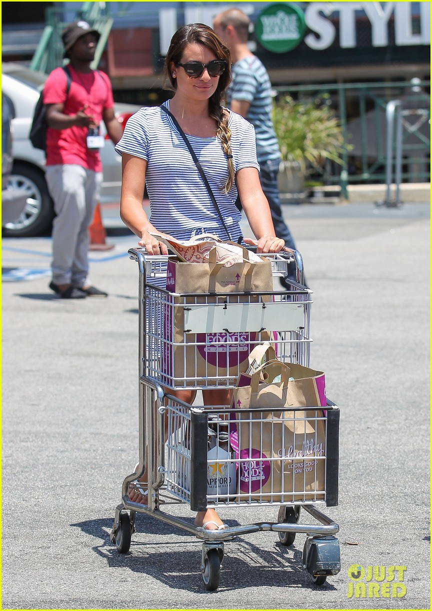 lea michele smiles wide after going public with new boyfriend 113149080