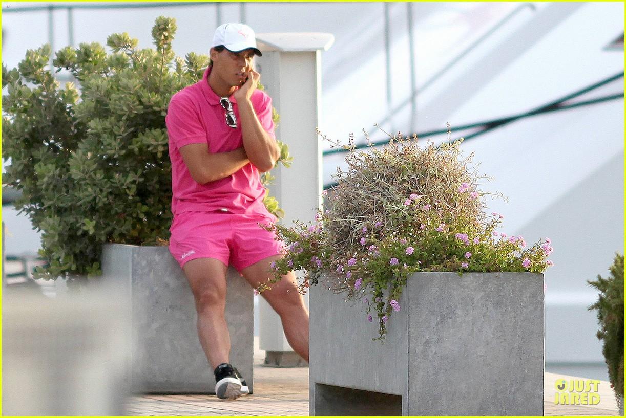 rafael nadal confident shirtless pink during ibiza vacation 103151345