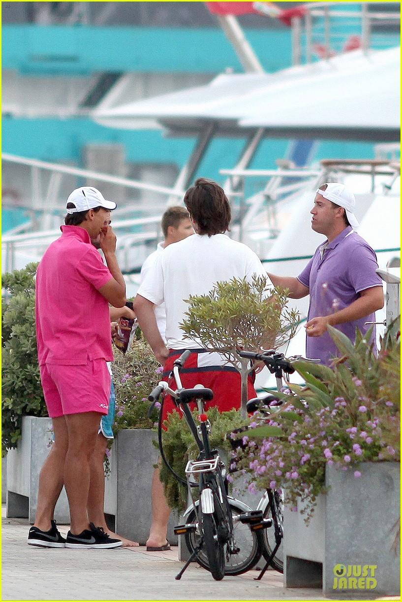 rafael nadal confident shirtless pink during ibiza vacation 273151362