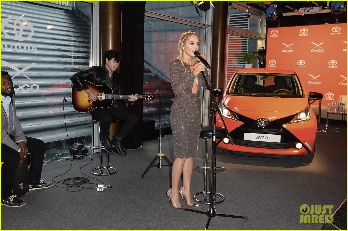 rita ora premieres the new toyota aygo in berlin 013148775