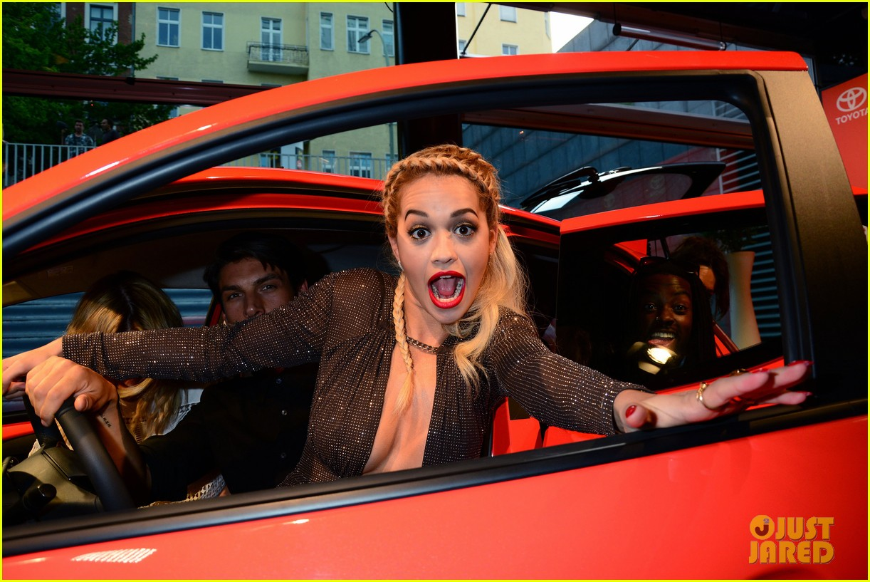 rita ora premieres the new toyota aygo in berlin 033148777