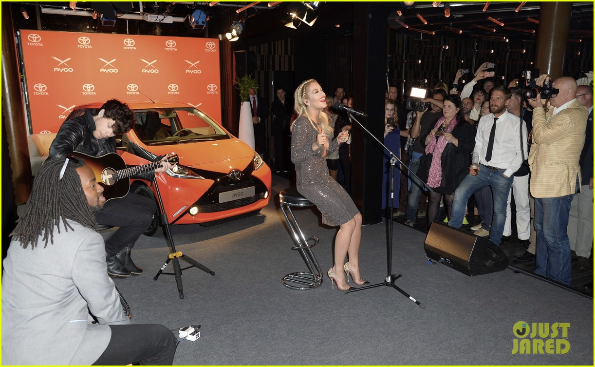 rita ora premieres the new toyota aygo in berlin 103148784